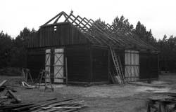 Budowa stodoły z Karczmiska