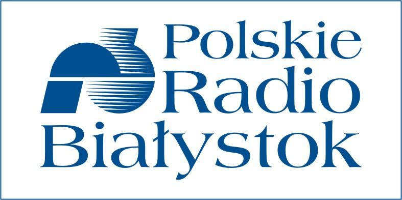 Niebieskie logo Polskiego Radia Białystok