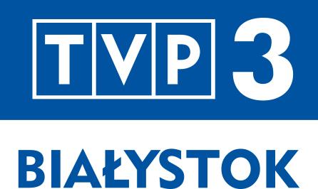 Niebieskie logo TVP3 Białystok