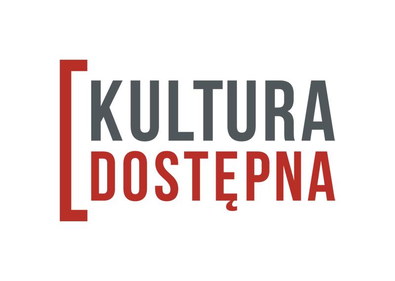 Logo czarno szare kultura dostępna