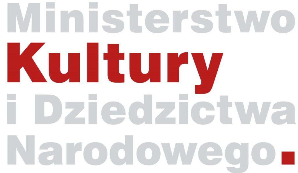 logo z napisem Ministerstwo Kultury i Dziedzictwa Narodowego