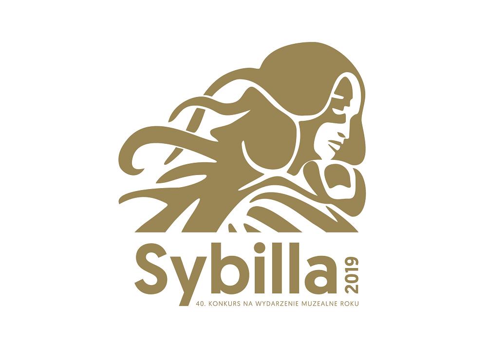 Złoty logotyp konkursu Sybilla 2019