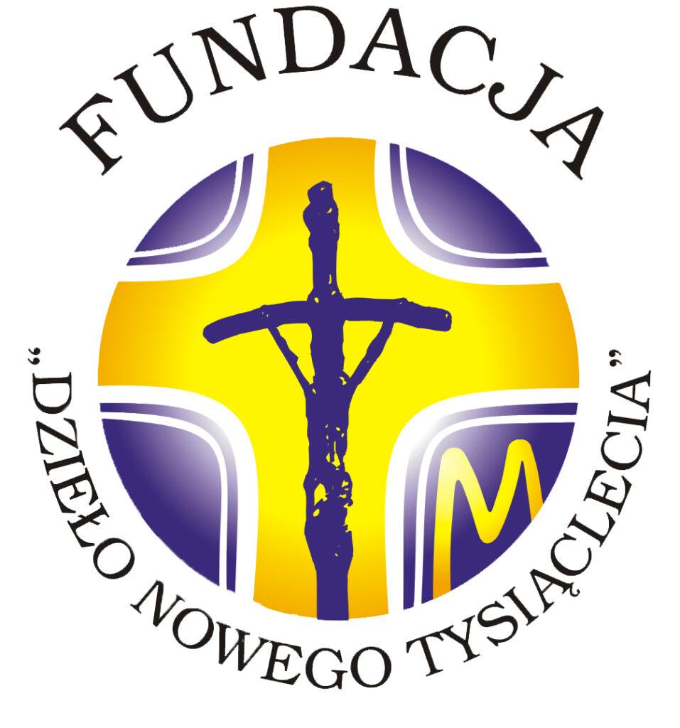 """Barwne logo Fundacji Konferencji Episkopatu Polski """"Dzieło Nowego Tysiąclecia"""""""