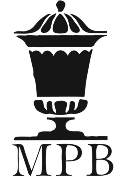 Czarno - białe logo Muzeum Podlaskiego w Białymstoku