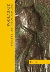 Okładka książki w kolorze brązowo - żółtym. Napis: Podlaskie Zeszyty Archeologiczne.